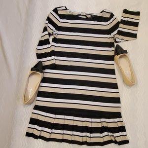 WHITE HOUSE BLACK MARKET DRESS SIZE M TAN & BLACK